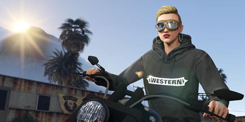 Imagen de GTA nueva sudadera negra Western