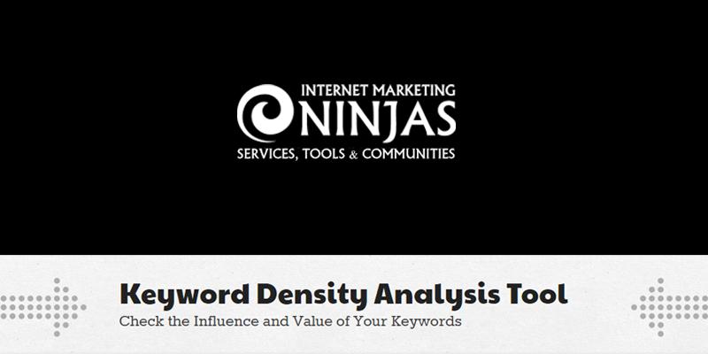 herramienta SEO de densidad de palabras clave