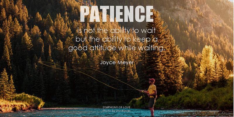 Foto con mensaje para representar la paciencia