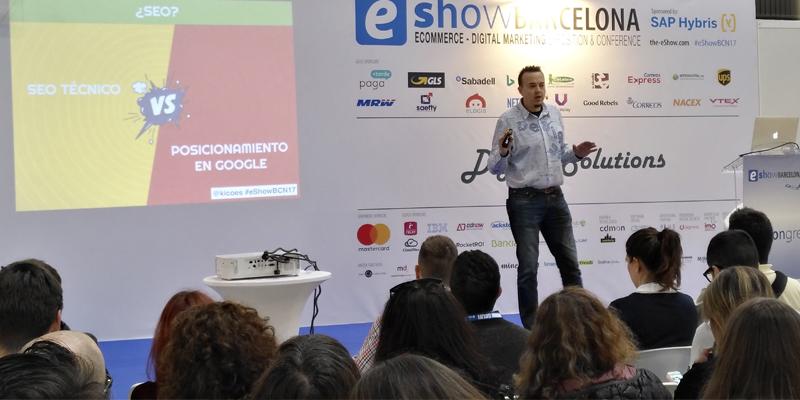 Conferencia seo en eshow por Miguel Pascual