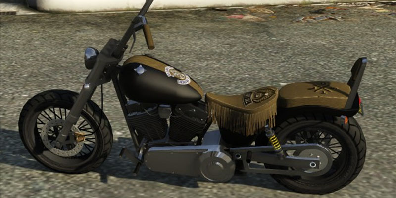 Nuevo motocicleta Western Deamon Custom del GTA