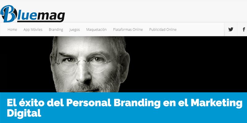 Foto de Steve Jobs de un artículo interno de Bluemag sobre personal branding