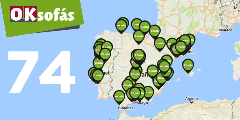 Mapa de los Puntos de Venta en España de OkSofas