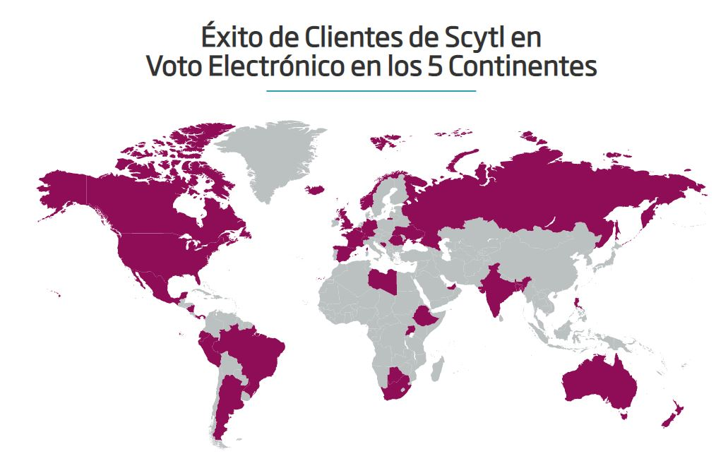 Clientes de Scytl a nivel internacional