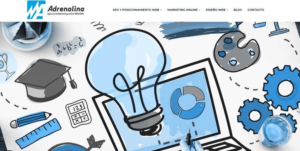 Pantallazo página web Adrenalina