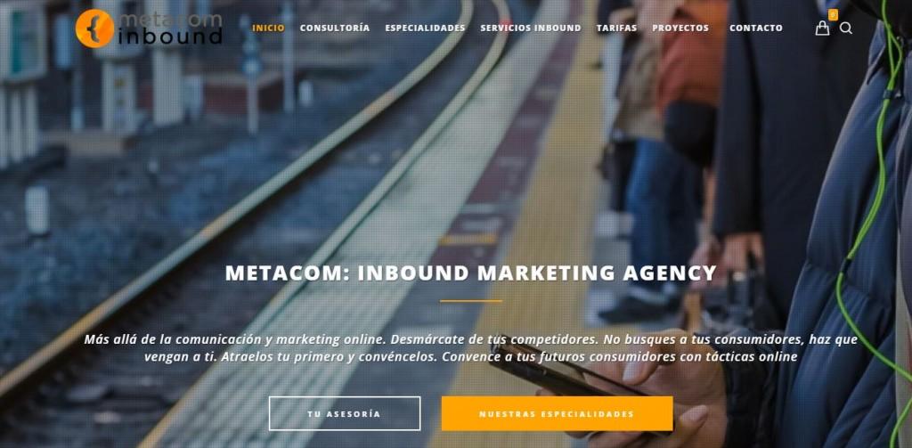 Pantallazo página web Metacom Inbound