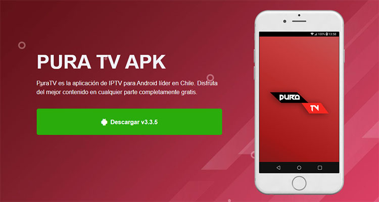 Captura de la web de PuraTV